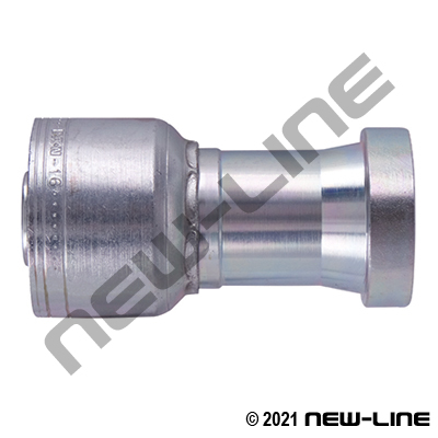 1A Crimp x C62 Flange Straight