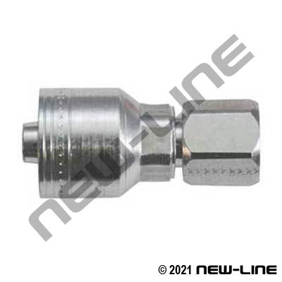 1A Crimp x Female JIC Straight Swivel Coupling