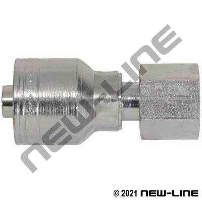 1A Crimp X Female ORS Straight Swivel Coupling