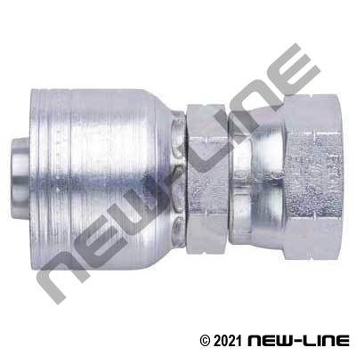 1A Crimp X Female SAE Straight Swivel Coupling