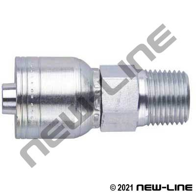 1A Crimp X Male NPT Rigid