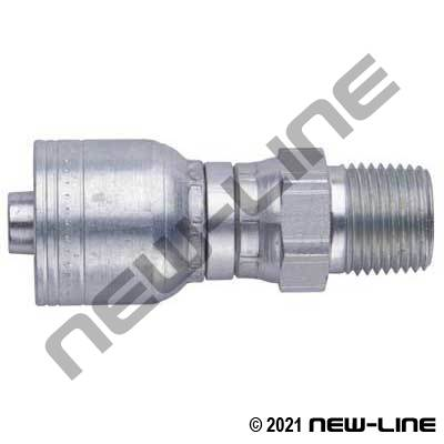 1A Crimp X Male NPT Light Duty Swivel