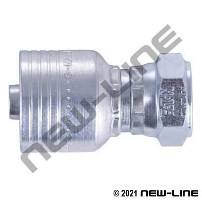 1B Crimp x Female BSPP Straight Swivel Coupling