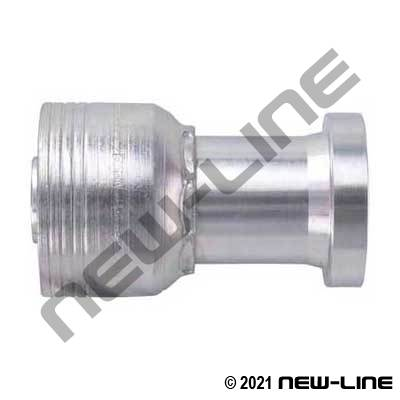 1B Crimp x C62 Flange Straight