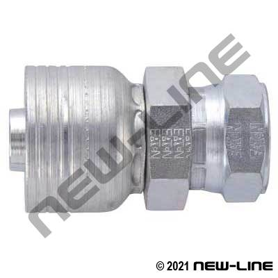 1B Crimp x Female JIS Straight Swivel Coupling