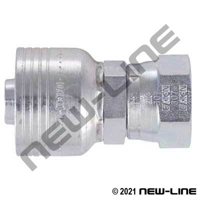 1B Crimp x Female JIC Straight Swivel Coupling
