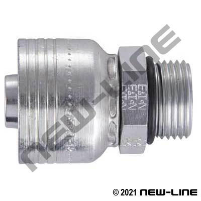 1B Crimp x Male ORB Straight Adapter