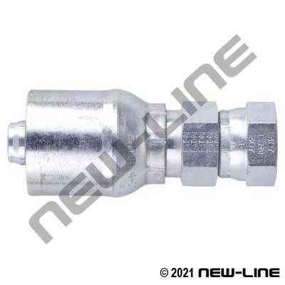 1E Crimp X Female JIC Straight Swivel Coupling