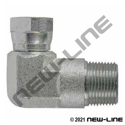 Eaton Female NPSM Swivel x Male NPT 90°