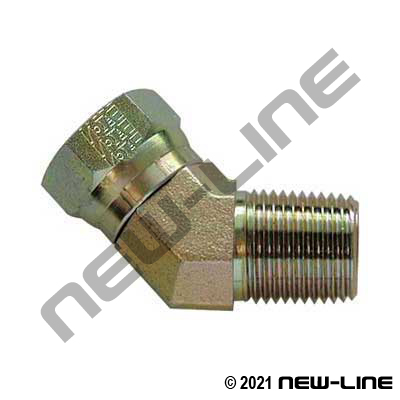 Eaton Female NPSM Swivel x Male NPT 45°