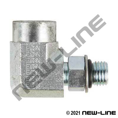 Eaton Female NPT x Male ORB 90°