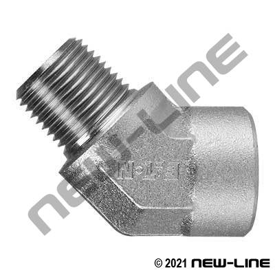 Eaton Female NPT x Male NPT 45°