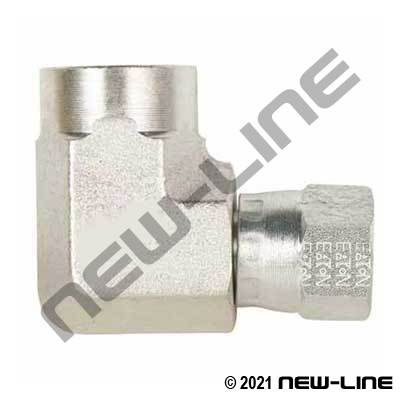 Eaton Female NPT x Female JIC Swivel 90°
