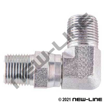 Eaton Male NPT x Male NPT Swivel 90°
