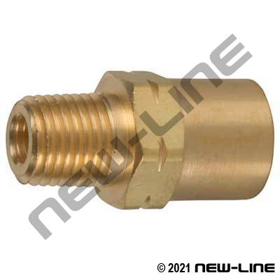 Male NPT x Solid Female Inert-B LH Water Adapter