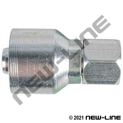 4S Crimp Coupling x Female JIC Swivel Straight