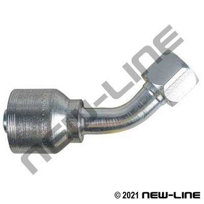 4S Crimp Coupling x Female JIC Swivel 45°
