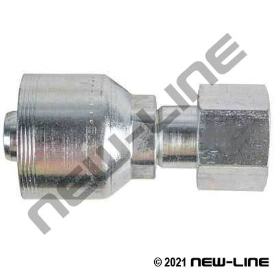 4S Crimp Coupling x Female ORFS Swivel Straight