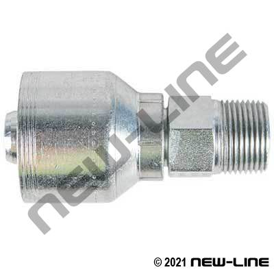 4S Crimp Coupling x Male NPT Rigid