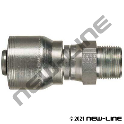 4S Crimp Coupling x Male NPT Swivel