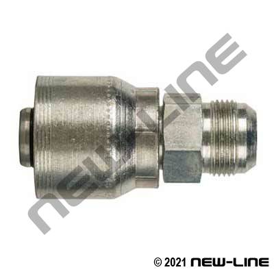 4S Crimp Coupling x Male JIC Rigid Straight