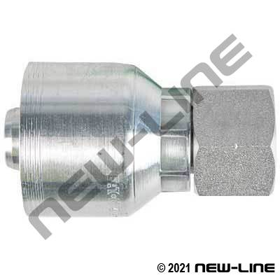 4S Crimp Coupling x Female BSPP Swivel Straight