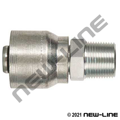4S Crimp Coupling x Male BSPT Rigid