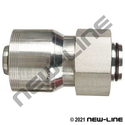 4S Crimp Coupling x Tube Female DIN Swivel Straight