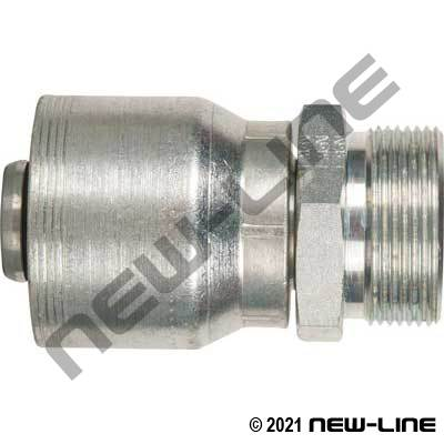 4S Crimp Coupling x Male O-Ring Face Seal Rigid