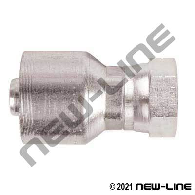 4S Crimp Coupling x Female SAE Swivel Straight