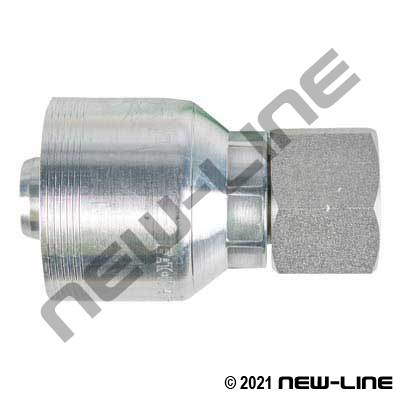 6S Crimp Coupling X Female BSPP Swivel Straight