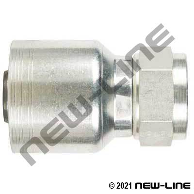 6S Crimp Coupling X Female JIC Swivel Straight