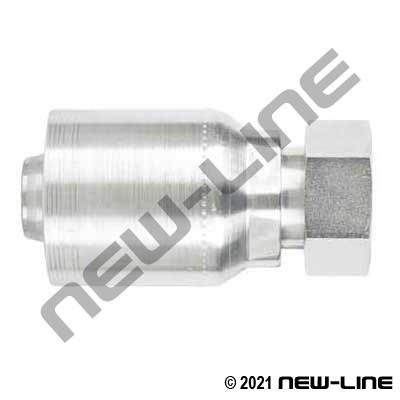6S Crimp Coupling X Female ORFS Swivel Straight