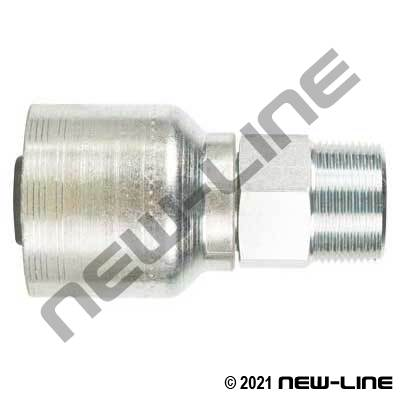 6S Crimp Coupling X Male NPT Rigid