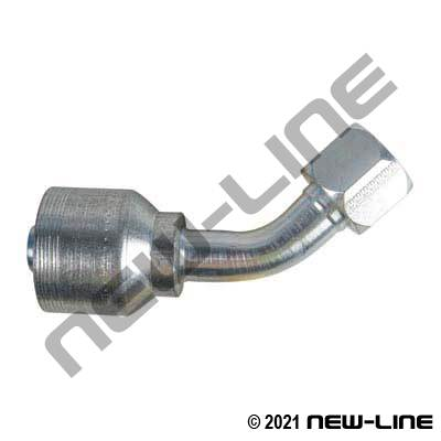 6S Crimp Coupling X Female JIC Swivel 45°