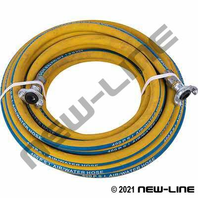 Yellow Generic Air & Water Hose/N32 Universals - 400 PSI