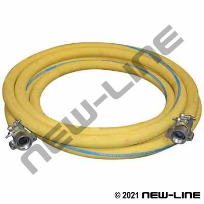 Yellow Contractors C4 400 Hose with N Series Ground Joint Couplings