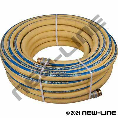 Yellow Contractors C4 400 Hose with MxF NPS Threaded Ends - Water Service Only