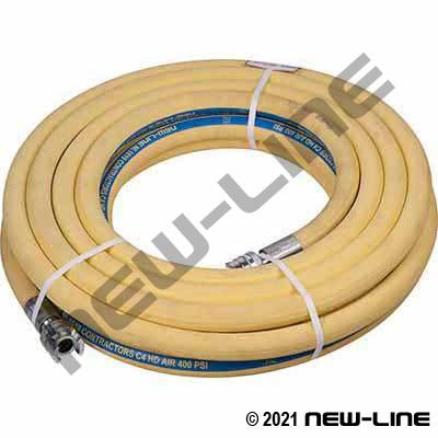 Yellow Contractors C4 400 Hose with Crimp HS Series A Double Lock