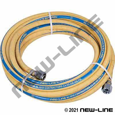 Yellow Contractors C4 400 Hose with Mining Nuts