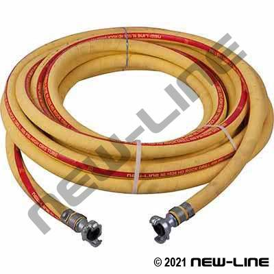 Yellow High Oil Resistant Tube Air Hose with N32 Universals