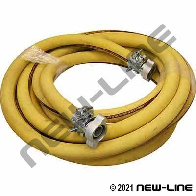 Yellow Steel Air Hose with Dixon Boss Ground Joint Couplings