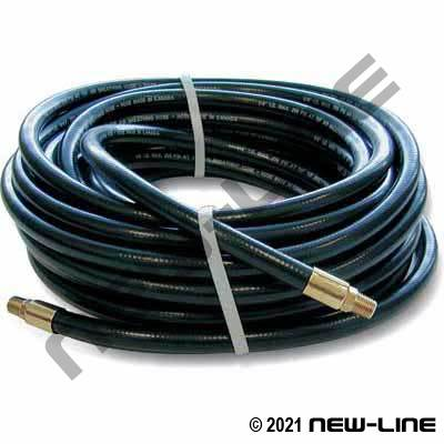Black A1243H PVC Air Breathing Hose with Crimped MNPT Ends