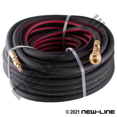 "PVC Air Breathing Hose/1/4"" Quick Connects and Sleeve Lock"