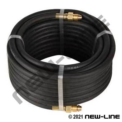 Black Argon & Inert Gas Hose with Male N450BI 5/8-18 RH Ends