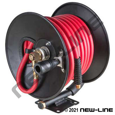 Air Hose Reel with Red Serpent Hose