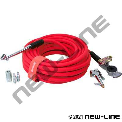 Red Serpent Air Hose with Gladhand Kit
