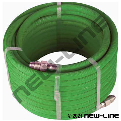 Green Inert Gas Hose with Male N450BI 5/8-18 RH Ends