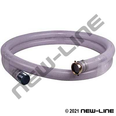 Clear PVC Transfer Hose W/ Female x Male NPS Threaded
