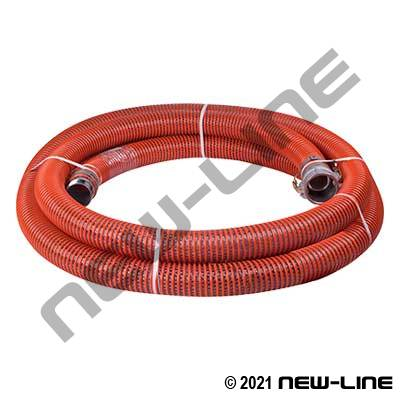 Orange Braided PVC with Female Camlock x Male NPT